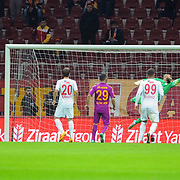 Galatasaray's scores during their Ziraat Turkey CUP soccer match Galatasaray between Eskisehirspor at the AliSamiYen TT Arena at Seyrantepe in Istanbul Turkey on Wednesday, 03 December 2014. Photo by Kurtulus YILMAZ/TURKPIX