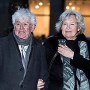 NLD/Amsterdam/20180203 - 80ste Verjaardag Pr. Beatrix, Geert Mak en partner Mietsie