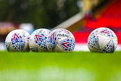 Sky Bet League Two Mitre match balls at Sincil Bank Stadium, home to Lincoln City - Mandatory by-line: Ryan Crockett/JMP - 08/09/2018 - FOOTBALL - Sincil Bank Stadium - Lincoln, England - Lincoln City v Crawley Town - Sky Bet League Two