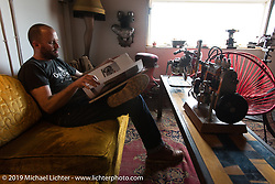 Alan Stulberg of Revival Cycles in Austin, TX during a visit after the Giddy Up Vintage Chopper Show.  Monday, March 30, 2015, photographed by Michael Lichter. ©2015 Michael Lichter