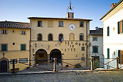 Town Hall, The Palace of the Podesta, in Piazza Francesco Ferrucci, Radda-in-Chianti, Tuscany, Italy