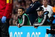 Dan Carter watches on from the sidelines as he recovers from a leg injury - QBE Autumn Internationals - England vs New Zealand - Twickenham Stadium - London - 08/11/2014 - Pic Charlie Forgham-Bailey/Sportimage