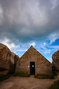 Guardhouse - Le poste de garde de Meneham<br /> - The remarkable hamlet of Meneham in Brittany, France.