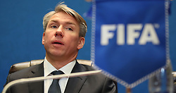 Alexey Sorokin CEO of the Local Organising Committee attend a seminar during on the eve of the final draw for the 2016 FIFA World Cup, Moscow. PRESS ASSOCIATION Photo. Picture date: Thursday November 30, 2017. Photo credit should read: Nick Potts/PA Wire RESTIRCTIONS: Editorial use only. No transmission of sound or moving images. No use with any unofficial third party logos. No altering or adjusting of photographs.
