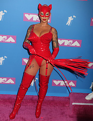 August 20, 2018 - New York City, New York, U.S. - AMBER ROSE attends the arrivals for the 2018 MTV 'VMAS' held at Radio City Music Hall. (Credit Image: © Nancy Kaszerman via ZUMA Wire)