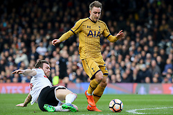 Kevin McDonald of Fulham sliding tackle on Christian Eriksen of Tottenham Hotspur - Mandatory by-line: Jason Brown/JMP - 19/02/2017 - FOOTBALL - Craven Cottage - Fulham, England - Fulham v Tottenham Hotspur - Emirates FA Cup fifth round