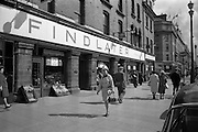 18/04/1963<br /> 04/18/1963<br /> 18 April 1963<br /> Exterior of Findlaters grocer, Upper O'Connell Street, Dublin.