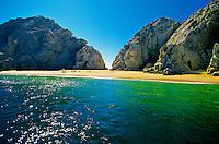 Playa del Amor (Lover's Beach), Bahia San Lucas, Cabo San Lucas, Baja Peninsula, Mexico