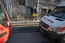 Ambulance Following Tram Car