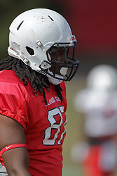19 August 2017:   Robert Gillum during 2017 Illinois State Redbirds Football Red-White Scrimmage at Hancock Stadium in Normal IL (Photo by Alan Look)