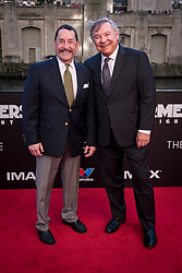 Peter Cullen (left) and Frank Welker (right) attend the US Premier of 'Transformers: The Last Knight' on the Chicago River in front of the Civic Opera House on Tuesday June 20, 2017 in Chicago, IL. Cullen is the voice of Optimus Prime and Welker is the voice of Megatron. Photo: Christopher Dilts / Sipa USA *** Please Use Credit from Credit Field ***