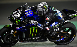 Spanish MotoGP rider Maverick Vinales of Monster Energy Yamaha MotoGP competes in the free-practice 2 during the 2019 MotoGP Grand Prix of Qatar in Losail Circuit of D?oha, capital of Qatar, on March 08, 2019. Maverick Vinales  took the second place with 1 minute 53.854 seconds. (Credit Image: © Yangyuanyong/Xinhua via ZUMA Wire)