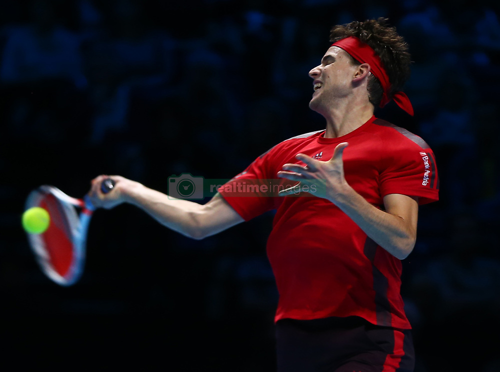 November 15, 2017 - London, England, United Kingdom - Dominic Thiem of Austria against Pablo Carreno Busta of Spain.during Day Four of the NITTO ATP World Tour  Finals played at The O2 Arena, London on November 15 2017  (Credit Image: © Kieran Galvin/NurPhoto via ZUMA Press)