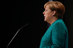 July 8, 2017 - Hamburg, Germany - German chancellor Angela Merkel is seen giving her closing press conference of the G20 summit on 8 July, 2017 in Hamburg, Germany. (Credit Image: © Jaap Arriens/NurPhoto via ZUMA Press)
