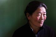 China, Tibet, Lhasa, portrait taken in a tea and noodles restaurant