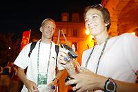 Friidrett, Kappgang, 22. august 2003, VM Paris, World Championschip in Athletics,  Erik Tysse, Norge, og Kjersti Tysse Plätzer, Norge
