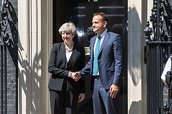 London, June 19th 2017. British Prime Minister welcomes Irish Taoiseach Leo Varakar to 10 Downing Street for bilateral discussions