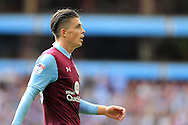 Jack Grealish of Aston Villa looks on. .EFL Skybet championship match, Aston Villa v Rotherham Utd at Villa Park in Birmingham, The Midlands on Saturday 13th August 2016.<br /> pic by Andrew Orchard, Andrew Orchard sports photography.