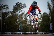 #127 (AZUERO GONZALEZ Domenica Michelle) ECU at the 2014 UCI BMX Supercross World Cup in Santiago Del Estero, Argentina.
