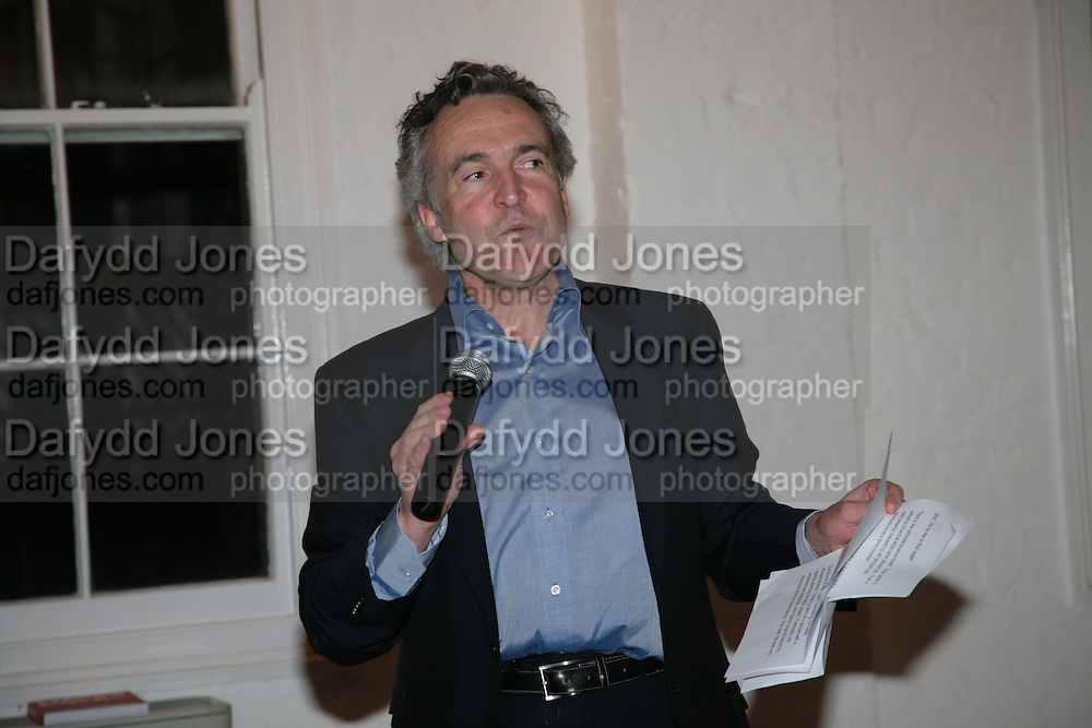 Stephen Bayley, Stephen Bayley & Roger Mavity -  launch party for their book-  Life's A Pitch. Venue: The Gymnasium, St Pancras  London,7 March 2007. <br />Attend launch for February title-DO NOT ARCHIVE-© Copyright Photograph by Dafydd Jones. 248 Clapham Rd. London SW9 0PZ. Tel 0207 820 0771. www.dafjones.com.