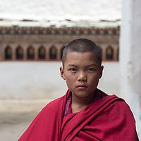Young monk, Paro, Bhutan<br /> <br /> Full photoessay at http://xpatmatt.com/photos/bhutan-photos/