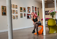 Jenn Hampton is the co-owner of the Parlor Gallery in Asbury Park. She is pictured at the Gallery on Thursday, March 5, 2020.