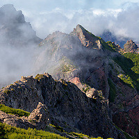 Pico do Arieiro surrounded by clouds.