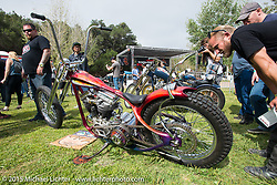 Invited builder Tom Fugle's custom Harley-Davidson Panhead on Day one of the Born Free Vintage Chopper and Classic Motorcycle Show at the Oak Canyon Ranch in Silverado, CA. USA. Saturday, June 28, 2014.  Photography ©2014 Michael Lichter.