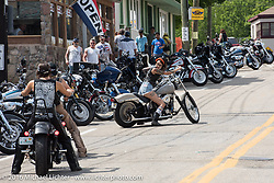 Out with the Iron Lilies during Laconia Motorcycle Week 2016. NH, USA. Sunday, June 19, 2016.  Photography ©2016 Michael Lichter.