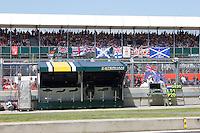 MOTORSPORT - F1 2013 - BRITISH GRAND PRIX - GRAND PRIX D'ANGLETERRE - SILVERSTONE (GBR) - 28 TO 30/06/2013 - PHOTO : FREDERIC LE FLOC'H / DPPI - ILLUSTRATION TIFFOS IN GRANDSTAND