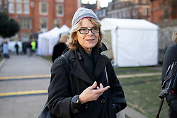 © Licensed to London News Pictures. 13/12/2018. London, UK. Economist Vicky Pryce seen in College Green. Yesterday, British Prime Minister Theresa May won the backing of her party to stay on as Prime Minister, following a vote of no confidence, after she postponed the vote on her EU withdrawal deal. Photo credit : Tom Nicholson/LNP