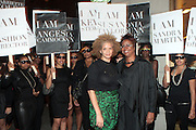 9 September 2010- New York, NY-l to r: Michaela Angela Davis and Harriete Cole at the Silent Protest against Essence Magazines' hiring of White Fashion Editor Elliana Placas at the 2010 Mercedes-Benz Fashion Week held at the Lincoln Center's Damrosch Park, the new home for Fashion Week on September 9, 2010 in New York City.