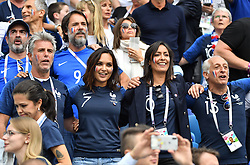 Bruno Solo, Claude Deschamps, Valerie Begue during the FIFA World Cup 2018 Round of 8 match at the Nizhny Novgorod Stadium Russia, on July 6, 2018. . Photo by Christian Liewig/ABACAPRESS.COM