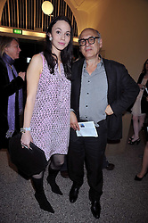MICHAEL NYMAN and FLORENCE MACKENZIE at a party to celebrate the opening of the new Whitechapel Gallery, 77-82 Whitechapel High Street, London E1 on 2nd April 2009.