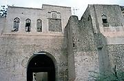 Historic buildings mud bricks citadel fortress in Zebid, Zabid, Yemen 1998 UNESCO World Heritage Site