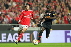 February 21, 2019 - Lisbon, Portugal - João Félix of SL Benfica (L) vies for the ball with Badou Ndiaye of Galatasaray AS (R) during the Europa League 2018/2019 footballl match between SL Benfica vs Galatasaray AS. (Credit Image: © David Martins/SOPA Images via ZUMA Wire)
