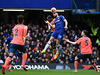 Football - 2019 / 2020 Premier League - Chelsea vs. Everton<br /> <br /> Chelsea's Olivier Giroud battles with Everton's Djibril Sidibe, at Stamford Bridge.<br /> <br /> COLORSPORT/ASHLEY WESTERN