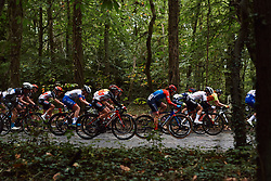 Abby-Mae Parkinson (GBR) in the bunch at the 2020 Brabantse Pijl - Elite Women, a 121 km road race from Lennik to Overijse, Belgium on October 7, 2020. Photo by Sean Robinson/velofocus.com