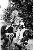 Hugh Purcell and David Kirke, Dangerous Sports Club tea Party at Robert Fack's House Gloucestershire. England. 1981© Copyright Photograph by Dafydd Jones 66 Stockwell Park Rd. London SW9 0DA Tel 020 7733 0108 www.dafjones.com