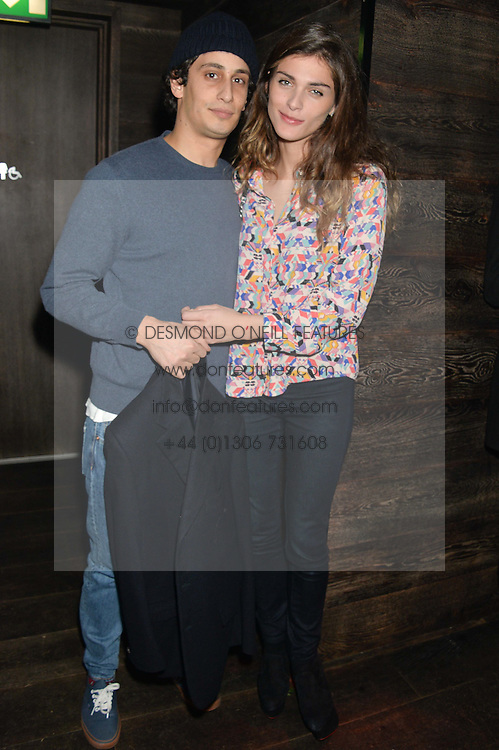 ELISA SEDNAOUI and ALEX DELLAL at the Lancôme pre BAFTA party held at The London Edition, 10 Berners Street, London on 14th February 2014.