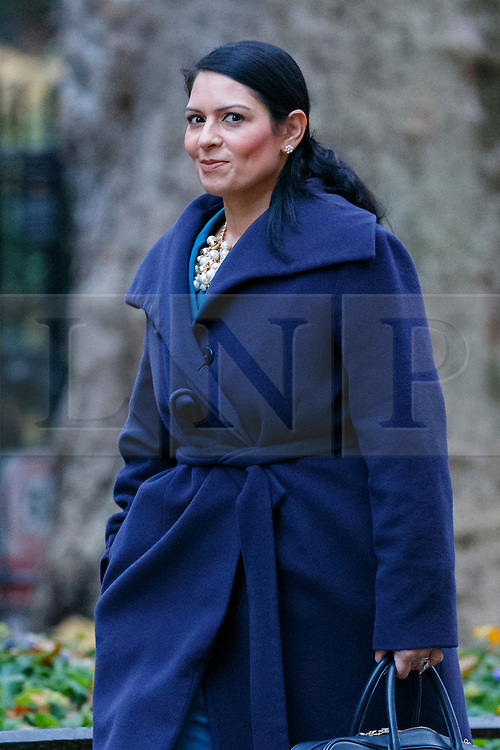 © Licensed to London News Pictures. 23/11/2016. London, UK. International Development Secretary PRITI PATEL attends a cabinet meeting in Downing Street before the autumn statement announment on Wednesday, 23 November 2016. Photo credit: Tolga Akmen/LNP