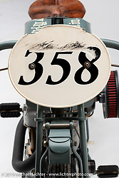 Harry Hi-pipes is a 1919 OHC Excelsior Board Tracker built by Paul Brodie of Flashback Fabrications, LTD, located in Langley, BC, Canada. Photographed by Michael Lichter in Sturgis, SD. July 31, 2019. ©2019 Michael Lichter
