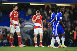 8 May 2017 - Premier League - Chelsea v Middlesbrough - Stewart Downing of Middlesbrough reacts after defeat condemn his team to relegation - Photo: Marc Atkins / Offside.