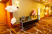 On-location commercial photography at the Downtown Marriott in Images of the hotel event spaces and catering options for use on the company website and social media accounts to advertise the business and promote the brand for special events.<br /> <br /> ©2019, Sean Phillips<br /> http://www.RiverwoodPhotography.com