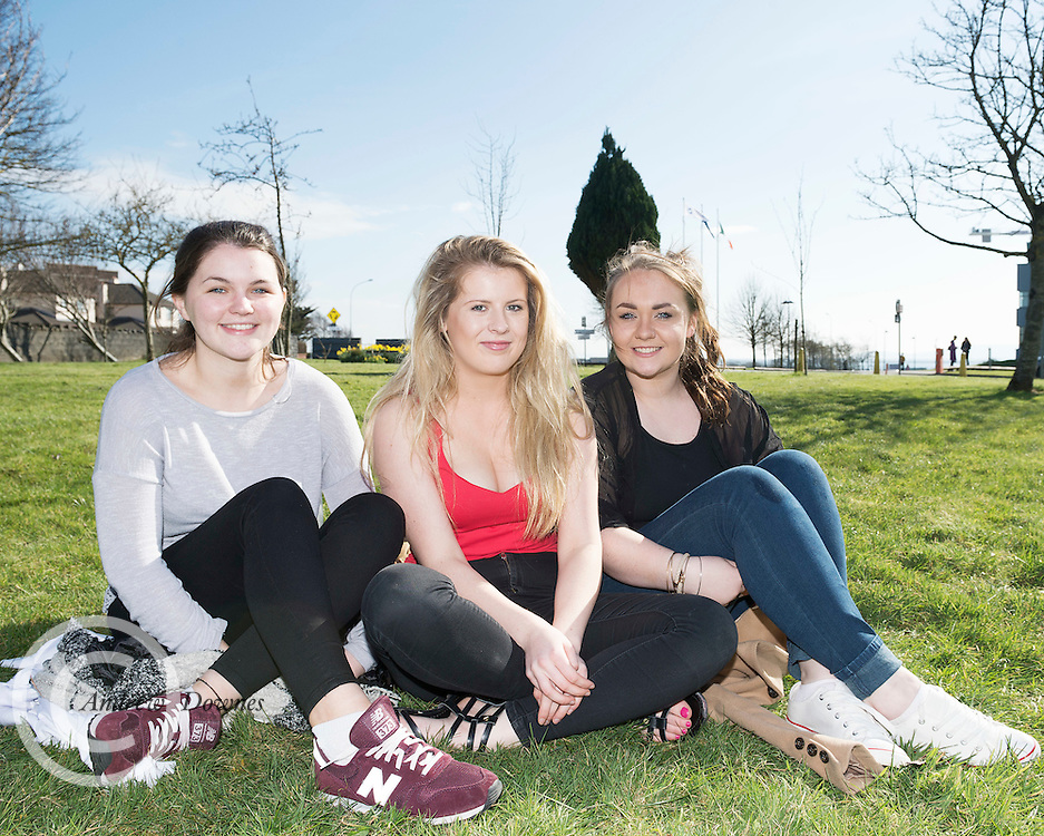 15/03/2016  2nd year  GMIT Freshwater and Marine Biology  students  Aislish Hogan Roisin McInerney and Hayley Joyce at The GMIT on Proclamation day. Photo:Andrew Downes, xposure.