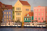 Willemstad Harbor at dusk, Curacao, Netherlands Antilles