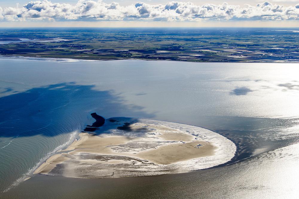 Nederland, Friesland, Waddenzee, 28-02-2016;<br /> Het Friese Zeegat tussen  Schiermonnikoog en Ameland met de  zandplaat Engelsmanplaat. Gezien naar de Friese kust.<br /> <br /> Wadden sea between Schiermonnikoog and Ameland .<br /> <br /> luchtfoto (toeslag op standard tarieven);<br /> aerial photo (additional fee required);<br /> copyright foto/photo Siebe Swart