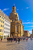 Frauenkirche (church) and the Neumarkt (New Market district), Dresden, Saxony, Germany