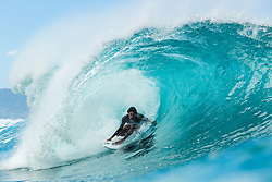 December 16, 2018 - Pupukea, Hawaii, U.S. - Michael February (ZAF) is eliminated from the 2018 Billabong Pipe Masters with an equal 13th finish after placing second in Heat 2 of Round 3. (Credit Image: © Kelly Cestari/WSL via ZUMA Wire)