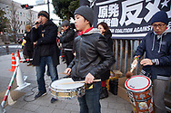 March 11, 2017, Tokyo, Japan: On the sixth anniversary of the Fukushima Daiichi Nuclear Power Plant disaster caused by the massive tsunami on 3/11/11, hundreds of anti-nuke demonstrations protested in front of Prime Minister Abe's residence for a call to end nuclear power in Japan. All over the country grass roots demonstrations were held as well as memorial services for the victims of the magnitude 9.0 earthquake and tsunami which killed more than 22,000 people. (Photo by Torin Boyd).